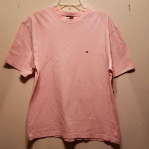 Mens Pink Tommy Hilfiger T shirt in Lg